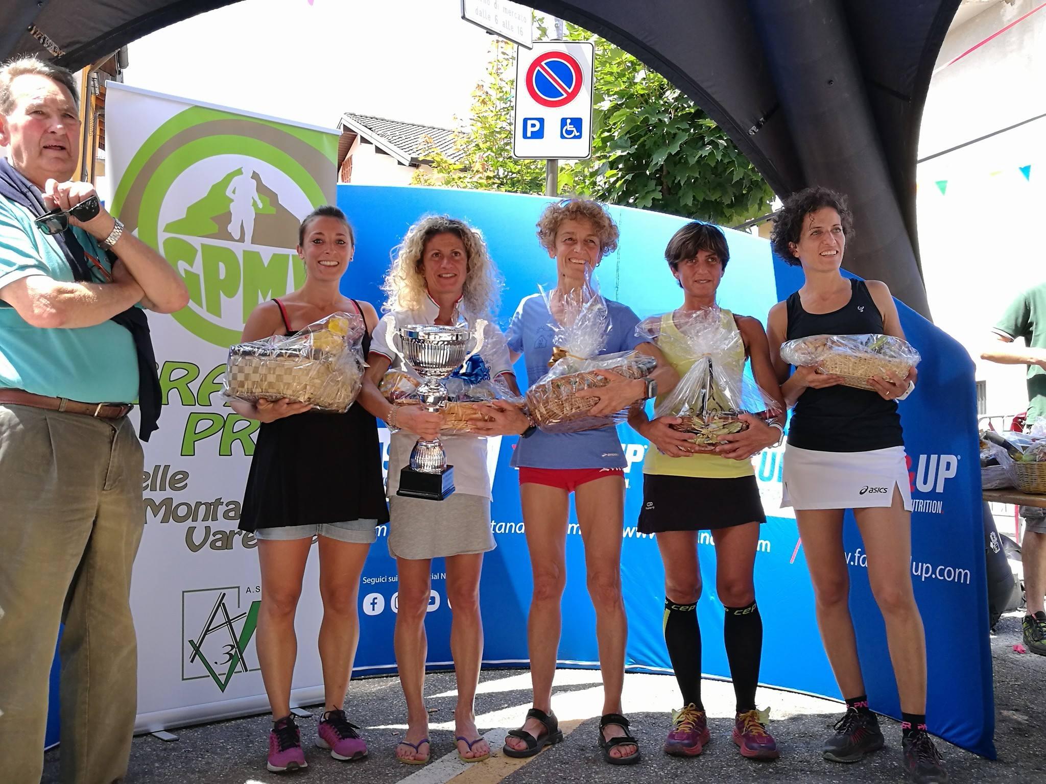 podio femminile i tre campanili